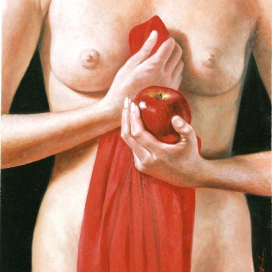 Γυναίκα μήλο σάρκινο