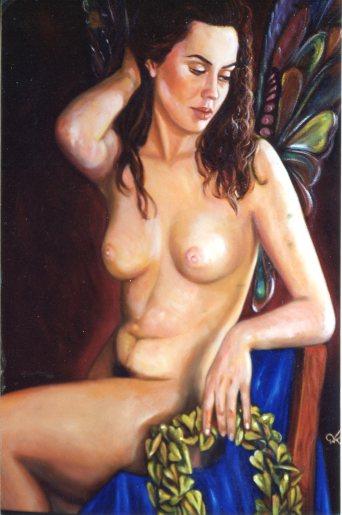 Γυμνό με στεφάνι
