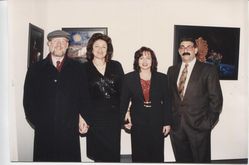 """Γ.Ζυμαράκης, κ.Κόλλια της """"Αίθουσας Τέχνης Νέου Ψυχικού"""", Δ.Κουβάτσου και Δ.Παντελίδης"""