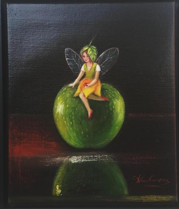 Νεραιδάκι σε μήλο πράσινο