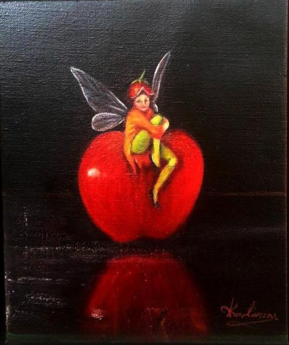 Νεραιδάκι σε μήλο κόκκινο